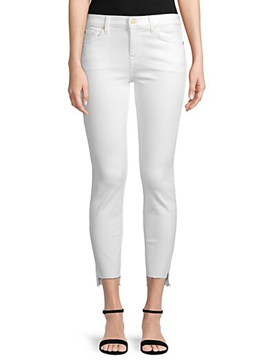 301ef4ad82b 7 For All Mankind Gwenevere Cropped Step-Hem Jeans ...