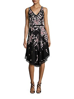 Beaded Floral Dress