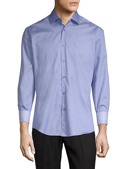 BERTIGO | Spread Coll Long Sleeve Shirt | Goxip