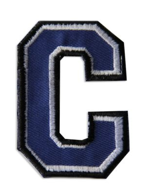 "Logophile Embroidered ""C"" Letter Patch"