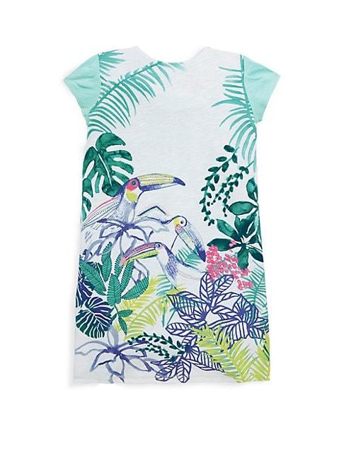 Little Girl's & Girl's Bird T-Shirt Dress