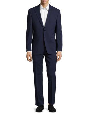 Calvin Klein  Ultraflex Classic-Fit Wool Suit