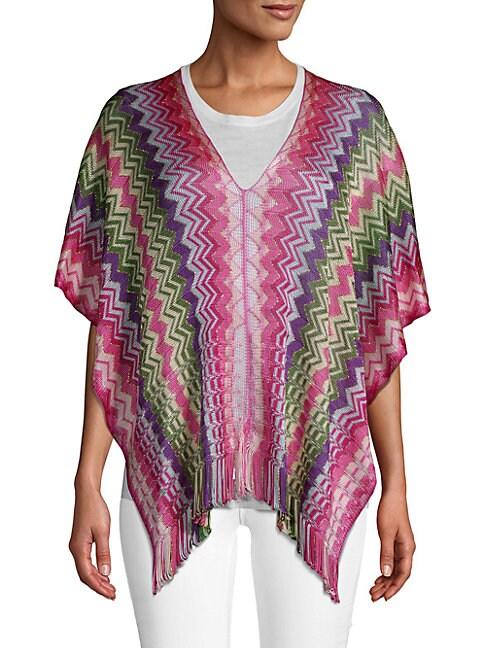 Stripe Knit Poncho