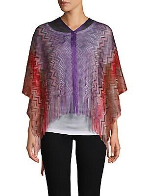 0671a4dfbd178 Missoni - Crochet Fringe Stripe Poncho - saksoff5th.com