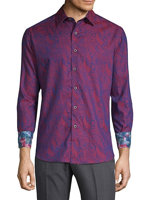 Cotton Scroll Print Shirt
