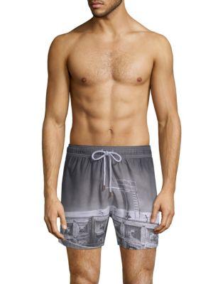 RETROMARINE Trampolin Swim Shorts in Black