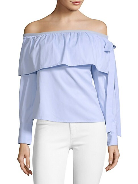 Kristen Ruffle Off-The-Shoulder Top