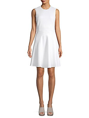 Scalloped Sleeveless Dress