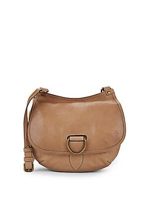 Lucy Leather Crossbody Saddle Bag