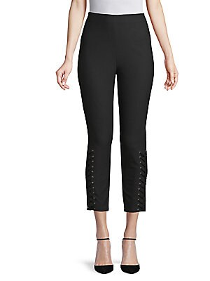 LACE-UP DETAILED LEGGINGS