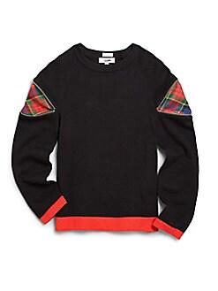 Junior Gaultier - Girl's Privat Zipper & Plaid-Detail Sweater