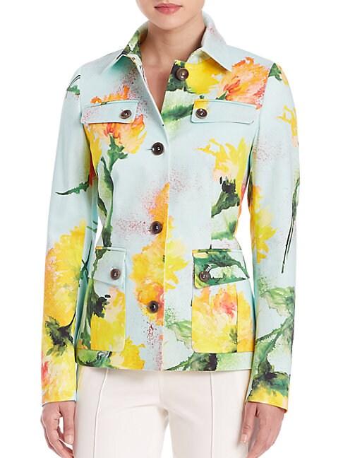 Carnation-Print Jacket