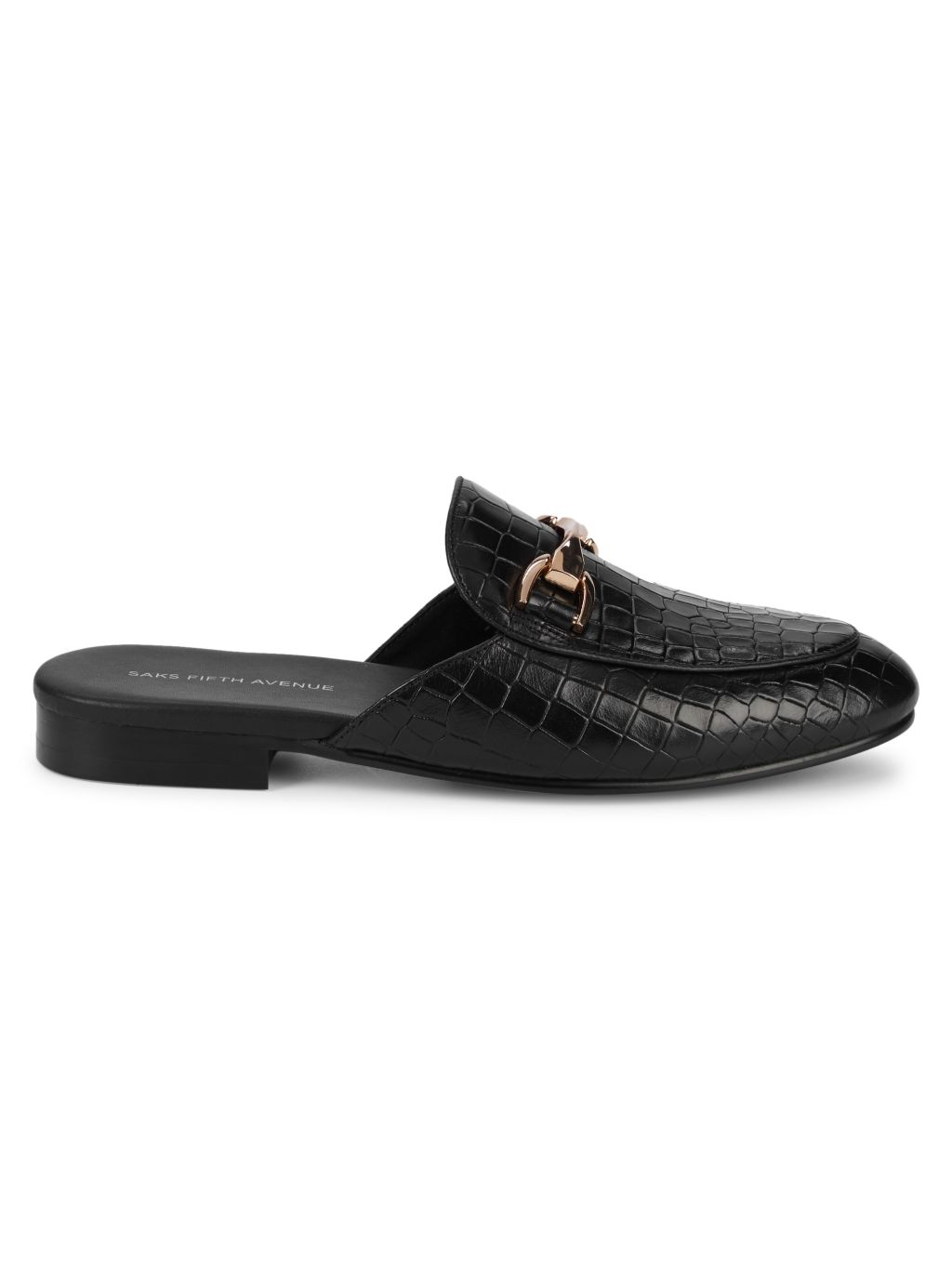 Saks Fifth Avenue Rupert Croc-Embossed Leather Mules