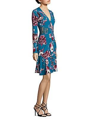 Floral Lace Jersey Dress