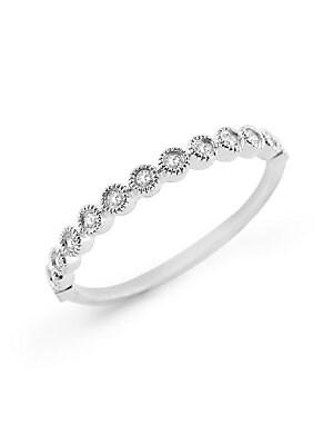 DIAMOND STACK WHITE GOLD RING
