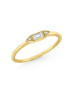 7231f9023a9ac 14K Yellow Gold Diamond Stackable Ring