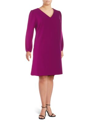 Alexia Admor Plus Bubble-Sleeve Shift Dress