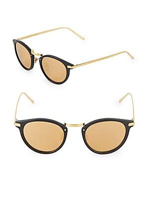 c1d48cca063 Linda Farrow Luxe - 48MM Oval Sunglasses - saksoff5th.com