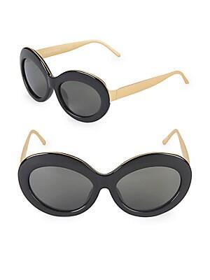 13087b3bb90 Linda Farrow Luxe - 57MM Butterfly Sunglasses - saksoff5th.com