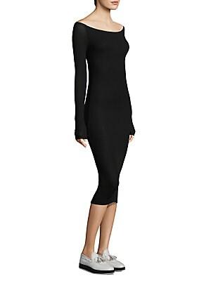 Ribbed Long-Sleeve Dress
