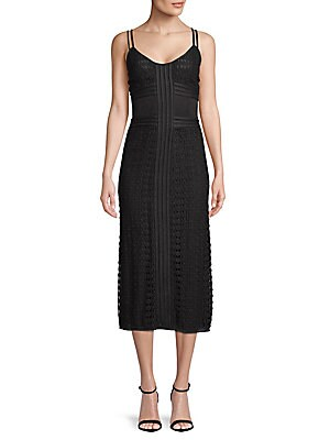Crochet Tea-Length Dress