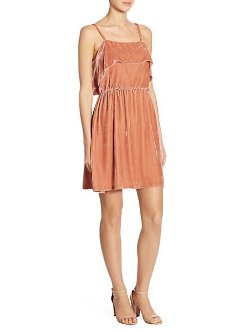 Alexis Ruffled Velvet Dress