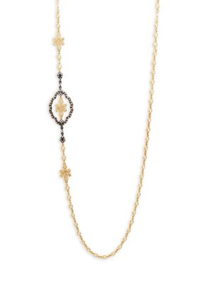 Freida Rothman Jewelries CUBIC ZIRCONIA & STERLING SILVER KNOT PENDANT NECKLACE
