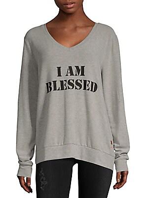 Graphic Heathered Sweater