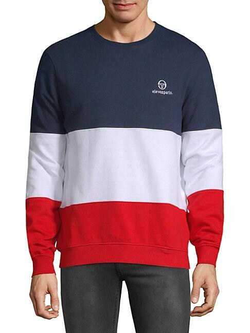Timothe Colorblock Cotton Sweatshirt