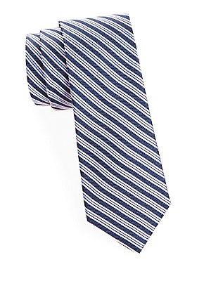 Ribbon Stripe Silk Tie