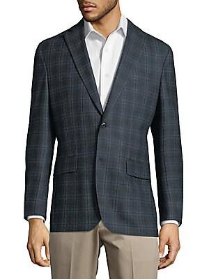 Windowpane Wool Jacket