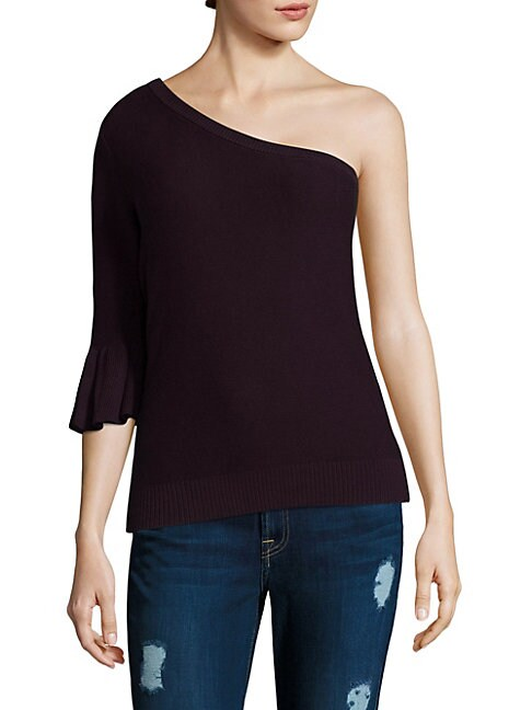 Wappo One-Shoulder Bell-Sleeve Top