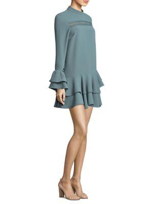 Prose & Poetry Marcel Cutout-Sleeve Mini Dress