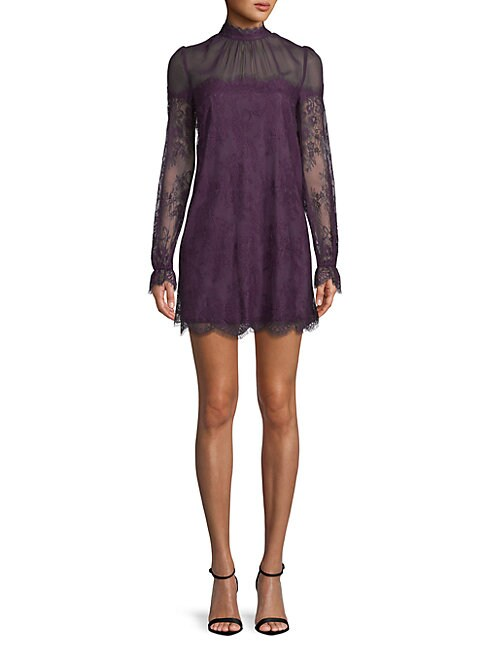 Amarella Scalloped-Trim Shift Dress