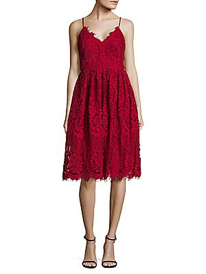 Lace Fit-&-Flare Dress