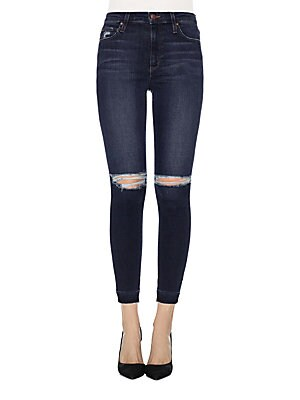 Cropped Five-Pocket Jeans