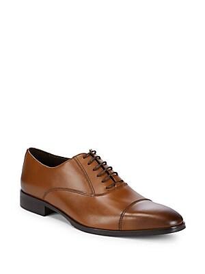 Cap Toe Leather Dress Shoes