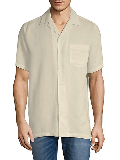 Short-Sleeve Camp Button-Down Shirt