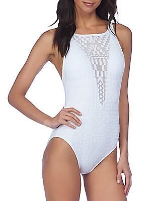 Geometric One-Piece Swimsuit