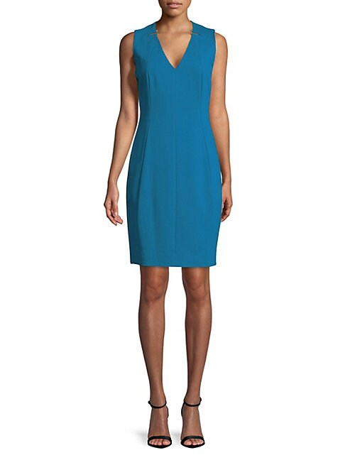 Lakira Neck Cutout Sheath Dress