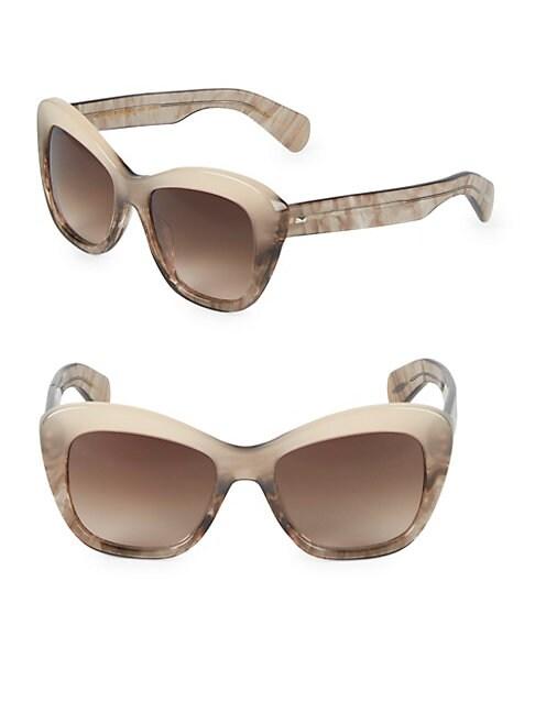 Emmy 55MM Butterfly Sunglasses