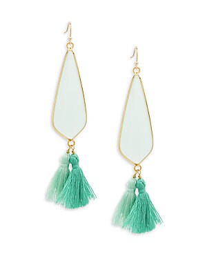 Crystal Tassel Drop Earrings