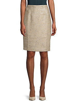 Tweed Straight Skirt