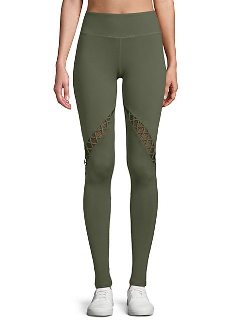 ELECTRIC YOGA | Crisscross-Paneled Leggings | Goxip
