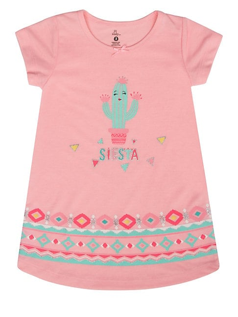 Little Girl's Hola Lama Nightgown