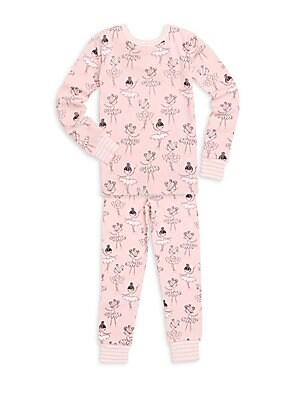 Little Girls TwoPiece Printed Cotton Pajama Set