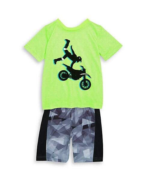 Boy's & Little Boy's Two-Piece Printed Pajama Top and Pants Set