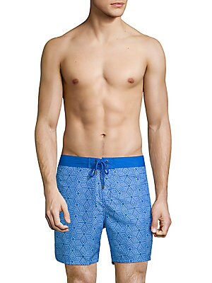 Cubed Swim Trunks