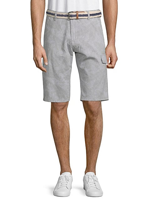 Tropical Cotton Cargo Shorts