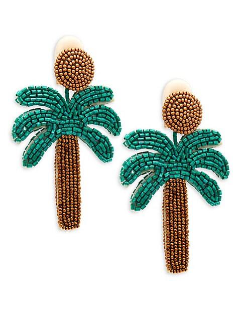 Oversized Palm Tree Earrings